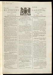 The Royal St.Vincent Gazette and General Advertiser -14 May 1808